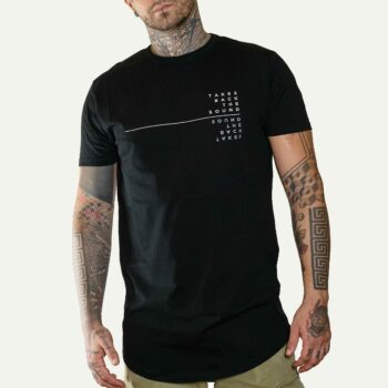 LONGLINE T-SHIRT - Takes Back The Sound_model_front